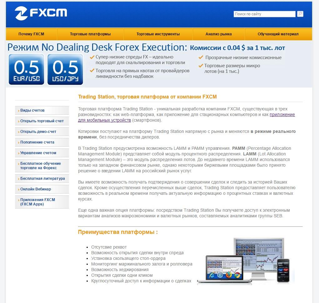 Платформы FXCM
